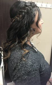 Side image of Bridal Party Hair Style from The Salon at Lakeside in Desert Shores Summerlin area of Las Vegas