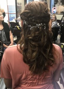 Back view of Bride hair style from The Salon at Lakeside in Desert Summerlin area of Las Vegas