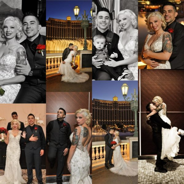 Multi Shot image of bride and groom