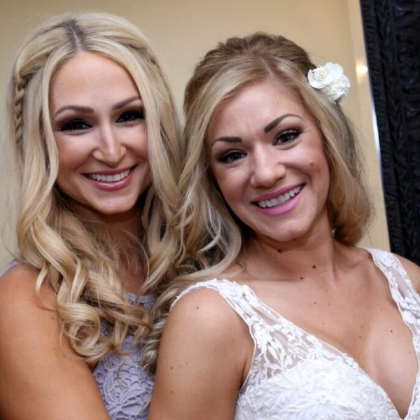 Bride and Maid Of Honor in the Bridal Suite at Lakeside Weddings & Events in Las Vegas