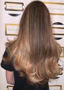Balayage Image from Back, light brown hair, The Salon at Lakeside