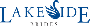 Lakeside Brides logo with blue Swan