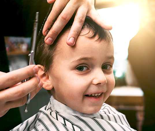 Las Vegas Child's Haircut in the Desert Shores Community of Summerlin