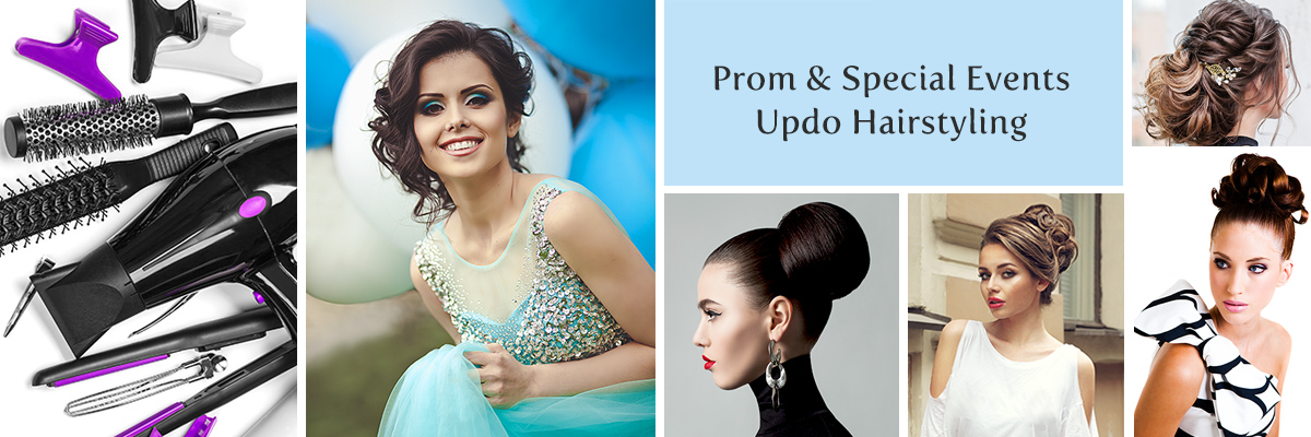 Salon at Lakeside in Desert Shores - Prom and Special Event Updo Hairstyling in Las Vegas
