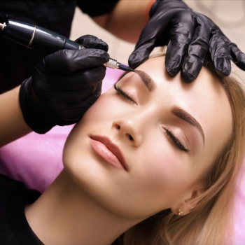 Permanent Make-up being applied at The Salon at Lakeside
