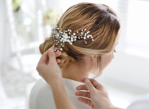 Updo Wedding Hairstylists in Las Vegas for Brides