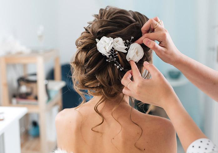 Bridal Hair Updo Wedding Salon Near Downtown Vegas