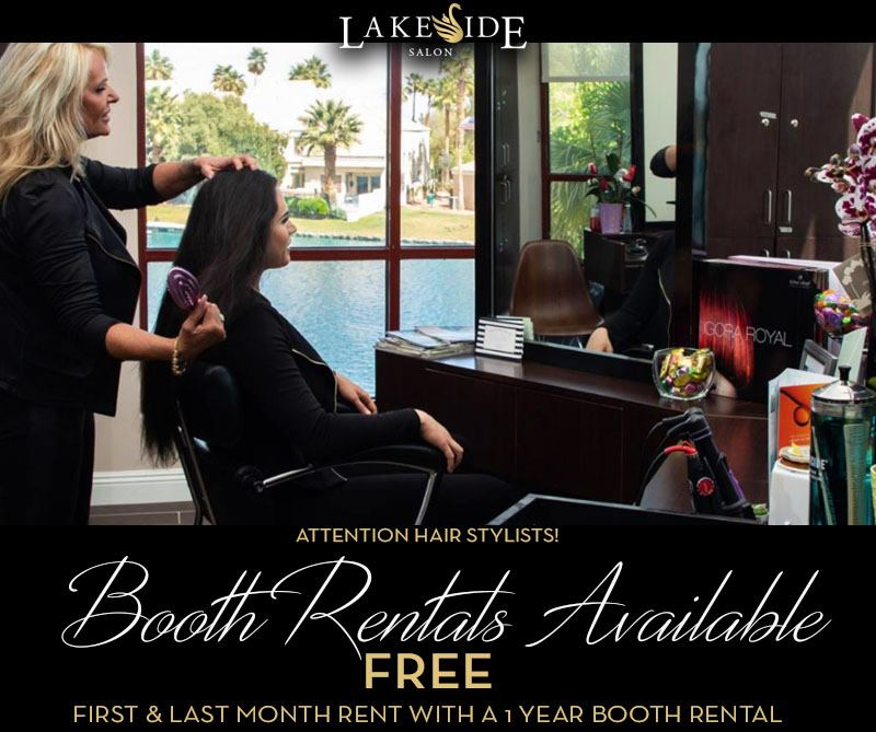 The Salon at Lakeside Booth Rental Special Flyer