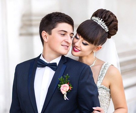 Las Vegas Bridal Salon Updo Hair and Makeup Package in the Desert Shores Community of Summerlin