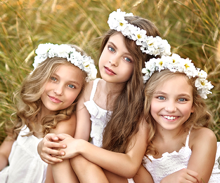Wedding Day Flower Girl Hair and Makeup Packages in the Las Vegas Area