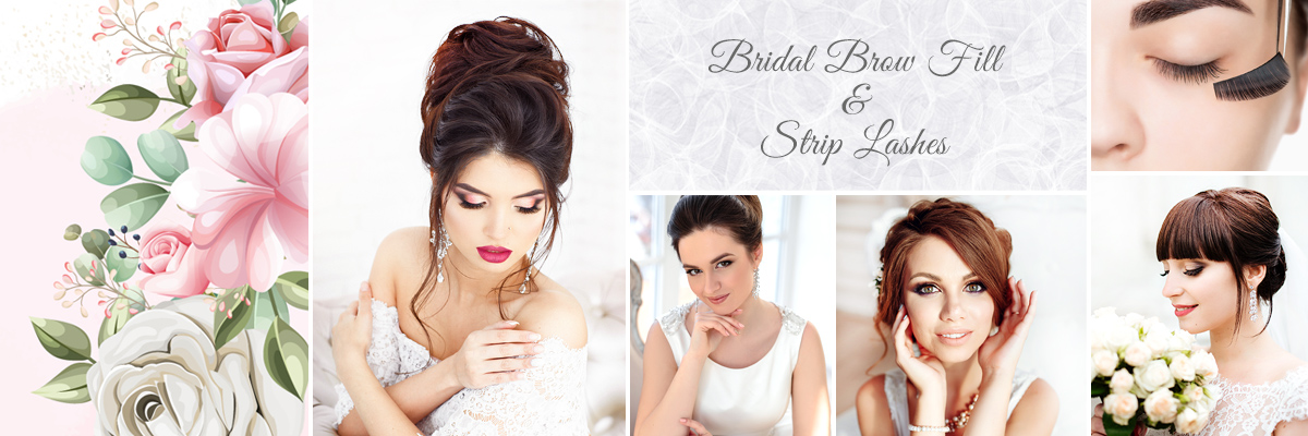 Wedding Day Bridal Brow Fill and Strip Lashes Near Downtown Vegas