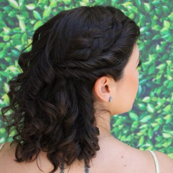 Black Hair with Braids by The Salon at Lakeside