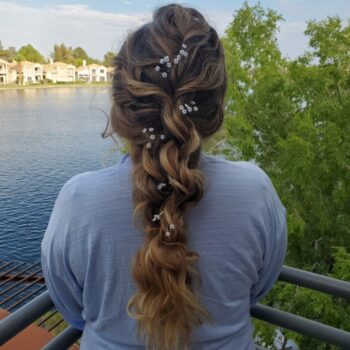 Braided Hair for Wedding by The Salon at Lakeside